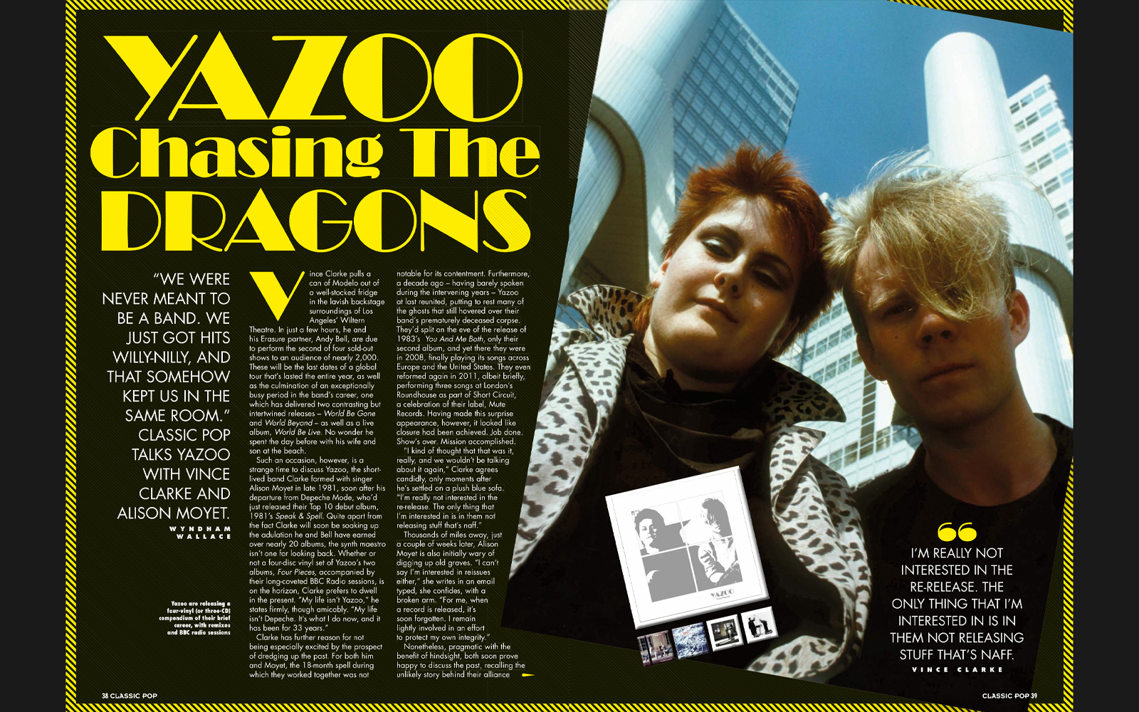 Vince & Alison interviewed in Classic Pop magazine