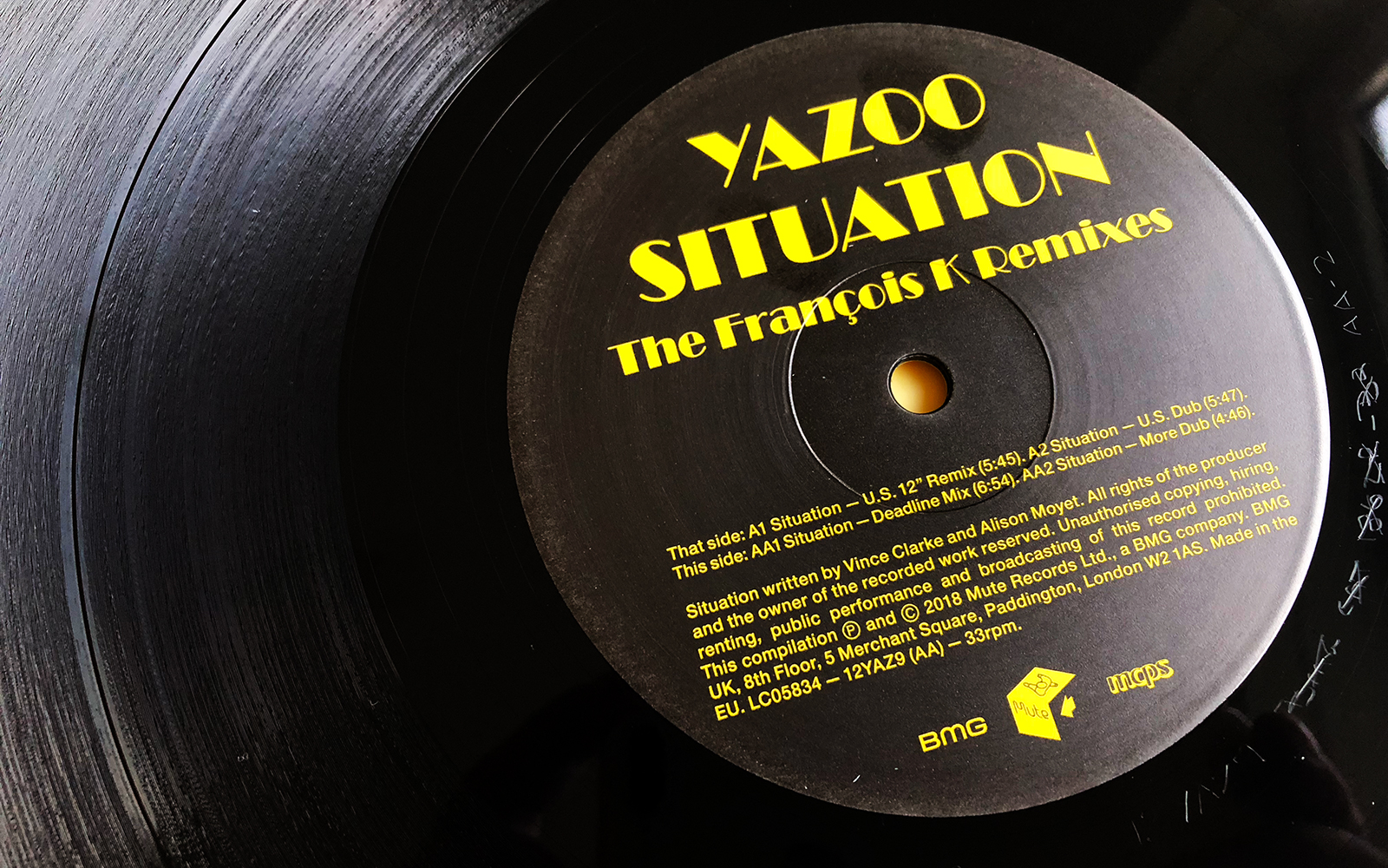"""New Yazoo 12"""" for Record Store Day"""